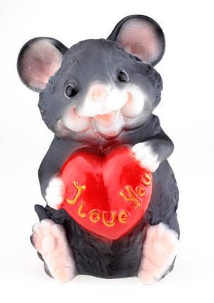 Мишка скарбничка 30 см з сердечком, фото 2