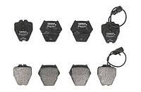 Тормозные колодки дисковые передние AUDI A8 96- (4 КОЛОДКИ НА ЗАЖИМ) Bosch OE 4A0698151D
