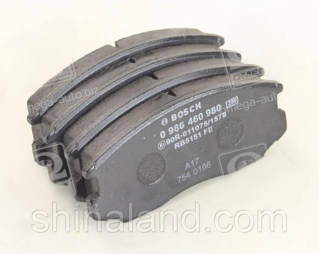 Тормозные колодки дисковые DAIHATSU передние (Bosch) OE 04465B4010