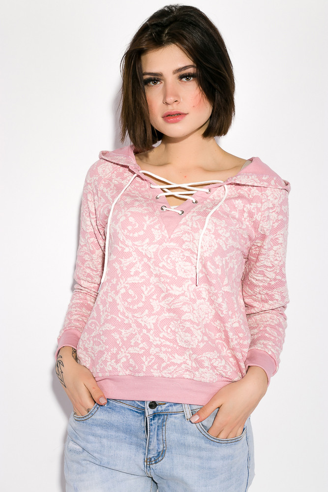 Свитшот женский 32P027 цвет Бледно-розовый