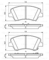 Тормозные колодки дисковые передние HYUNDAI ELANTRA, EQUUS / CENTENNIAL, I30, I30 CW, VELOSTER; KIA CEE'D,