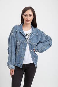 Джинсовая куртка 131R1750 цвет Сине-голубой