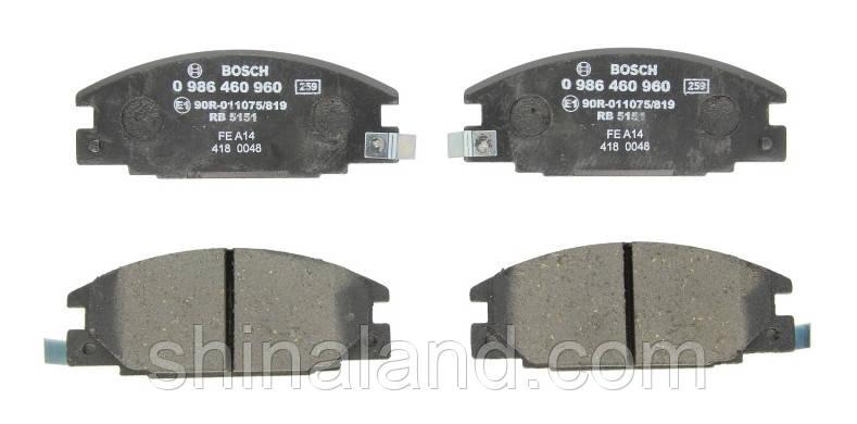 Тормозные колодки дисковые ISUZU TROOPER передние (Bosch) OE 94461155