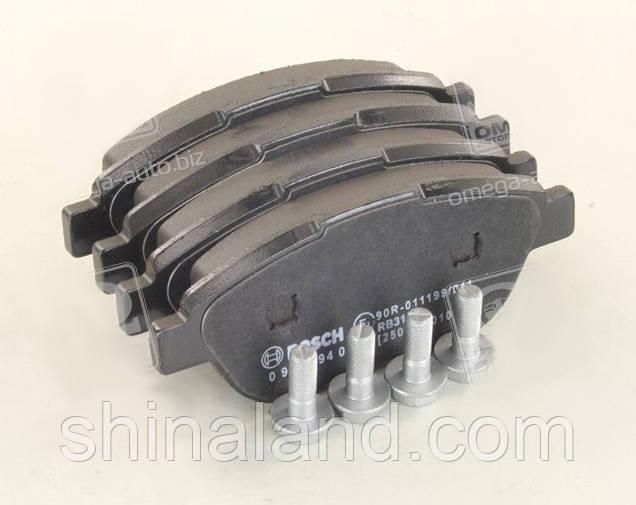Тормозные колодки дисковые CITROEN C3, C4, PEUGEOT 207, 307 передние (Bosch) OE 1611140780