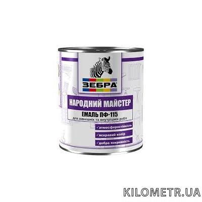 Емаль НАРОДНИЙ МАЙСТЕР ПФ-115 сіре залізо 0,9кг