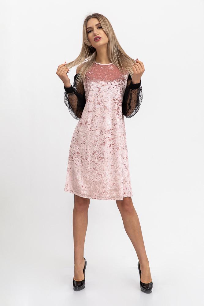 Платье женское 115R901F цвет Пудровый