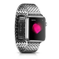 Ремешок Icarer для Apple Watch Armor Stainless Watchband Aeries-38mm (silver), фото 1