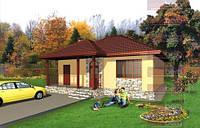 Каркасный дом - американский проект Сакура 80кв.м.