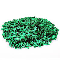 Пайетки зеленые 5 грамм 4мм