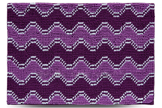 Килимок для ванної 70x120 см фіолетовий Хвиля Dariana D-6680