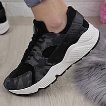 Жіночі стильні кросівки Fashion Peggy 1095 37 розмір 24 см Чорний, фото 3