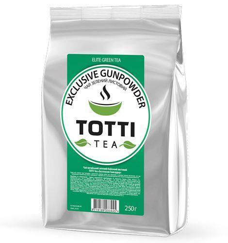"""Чай зелений TОТТІ Tea """"Ексклюзив Ганпаудер"""", листовий, 250г"""