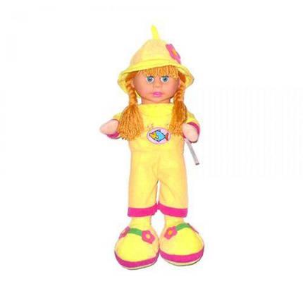Кукла мягкая с чепчиком (желтый) 260818, фото 2