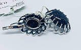 Сережки у сріблі з авантюрином Жозефіна, фото 2