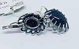 Серьги с синим авантюрином серебро Жозефина, фото 2