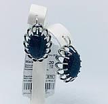 Серьги с синим авантюрином серебро Жозефина, фото 3
