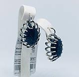 Серьги с синим авантюрином серебро Жозефина, фото 4