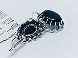 Срібні сережки з оніксом Жозефіна, фото 7