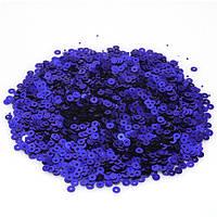 Пайетки синие 5 грамм 4мм(товар при заказе от 500грн)