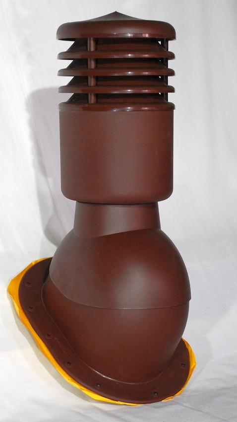 Вентвыход утепленный Kronoplast KPIO для плоской кровли с колпаком