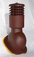 Вент выход утепленный Kronoplast KBNO для металлочерепицы низкий профиль волна до 24 мм с колпаком