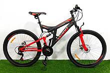 Спортивный велосипед 26 дюймов Аzimut Рower d 26 дюймов черно-красный + подарок. Горный велосипед азимут.