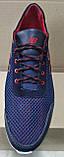 Мужские синие кроссовки летние сетка с кожей New Balance  туфли большого размера 46,47,48,49, фото 2