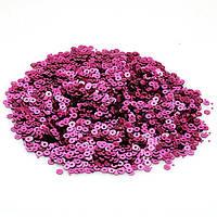 Пайетки розовые 5 грамм 5мм