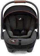 Детское автокресло переноска для новорожденных с базой Isofix Joie I-level Signature Noir Черное (I1510CBNOR000) (5056080602493)
