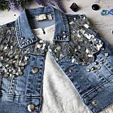 Летний джинсовый костюм на девочку 30. Размер 110 см, фото 4