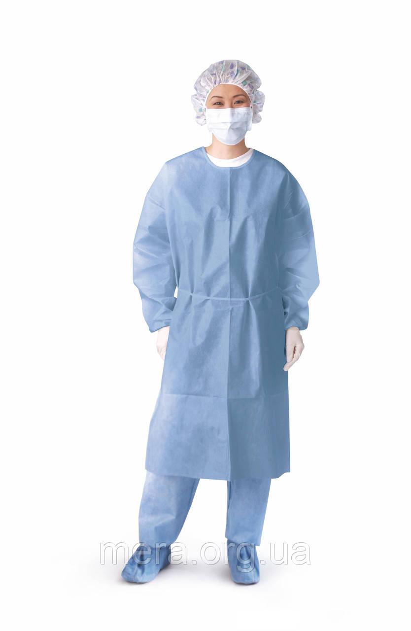 Халат хирургический, стерильный, рукав на резинке размер L