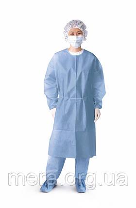 Халат хирургический, стерильный, рукав на резинке размер L, фото 2
