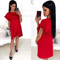 Платье рюши свободное в расцветках 931260, фото 2