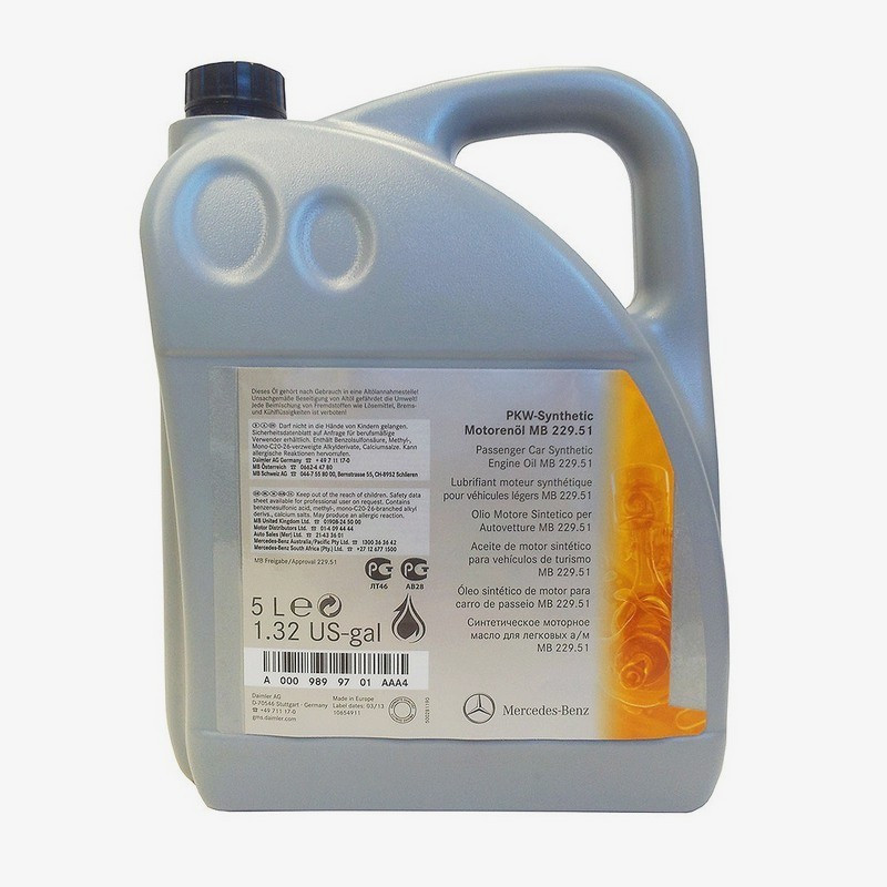 Моторное масло MERCEDES MB229.51 5W-30 5L (A0009899701BAA4)