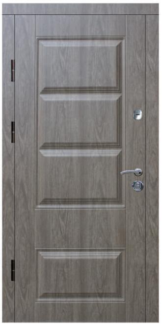 """Входные двери металлические, рис. """"Модерн"""" №2, Цвет ПВХ-91"""
