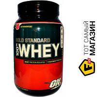 Протеин сывороточный (изолят), сывороточный (концентрат) Optimum Nutrition 100% Whey Gold Standard 909г, клубника