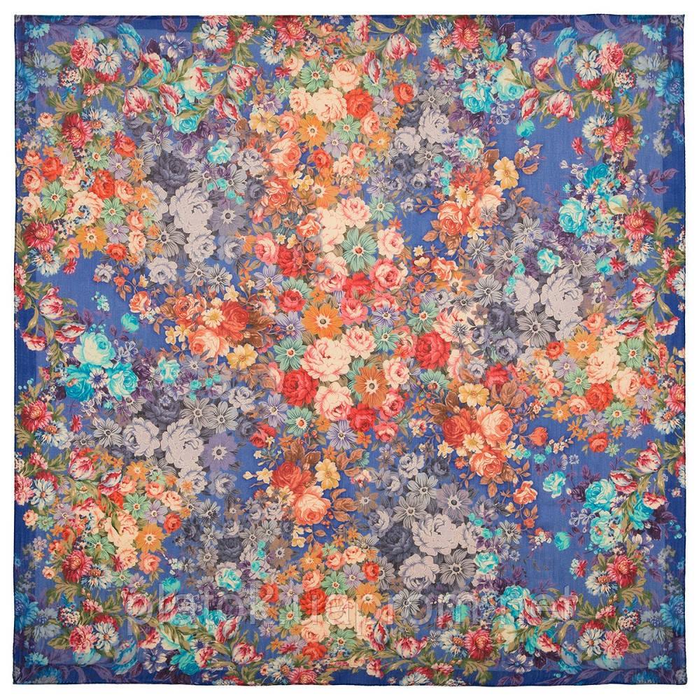 10200-13, павлопосадский платок шерстяной (разреженная шерсть) с швом зиг-заг