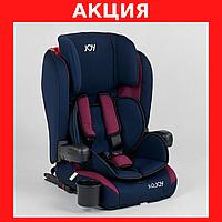 Детское автокресло Темно-синий с бордовым, система ISOFIX, группа 1/2/3, от 9-36 кг Детские кресла в машину