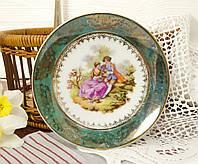 Коллекционная фарфоровая тарелочка с любовной сценой от J.P. Limonges, Франция, фото 1