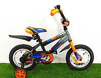 Детский двухколесный велосипед Azimut Stitch A 12 дюймов оранжевый