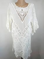 Женскоепляжноеплатье-туника Z.Five 8205 белое на 46-52 размер