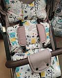 Матрас  для детской коляски, автокресла, 4 расцветки, фото 2