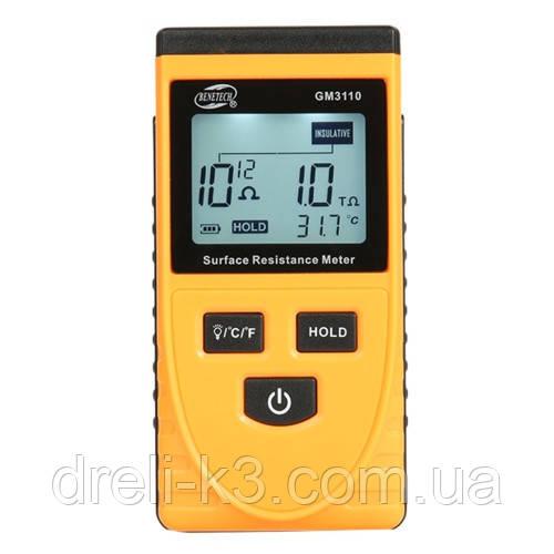Тестер для вимірювання опору поверхні (1kΩ ~1000ГΩ) BENETECH GM3110