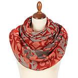 Палантин шерстяной 10396-5, павлопосадский шарф-палантин шерстяной (разреженная шерсть) с осыпкой, фото 3