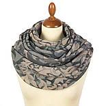 Палантин шерстяной 10396-1, павлопосадский шарф-палантин шерстяной (разреженная шерсть) с осыпкой, фото 3