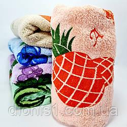Полотенце кухонное фибра овощи/фрукты 20 шт в уп. колосо размер 25*50