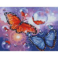 Алмазная живопись мозаика  по номерам на холсте 30*40см BrushMe EJ1008 Яркие бабочки