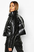 Пуховик куртка из натуральной кожи
