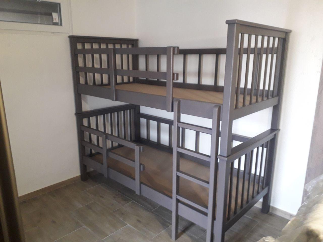 Ліжко двоярусне з вільхи під матраци 90х190 см