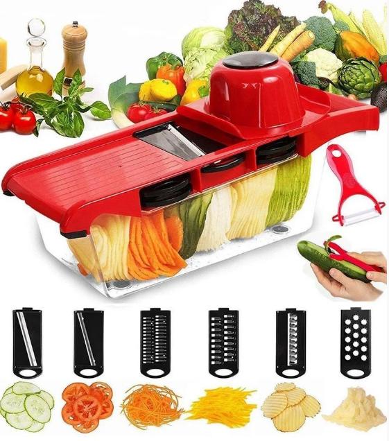Овочерізка Mandoline Slicer 6 in 1 | Ручна овочерізка з контейнером